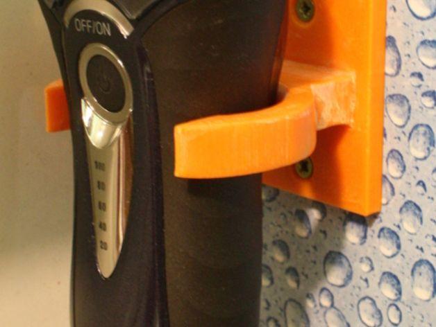 参数化电动剃须刀架 3D打印模型渲染图