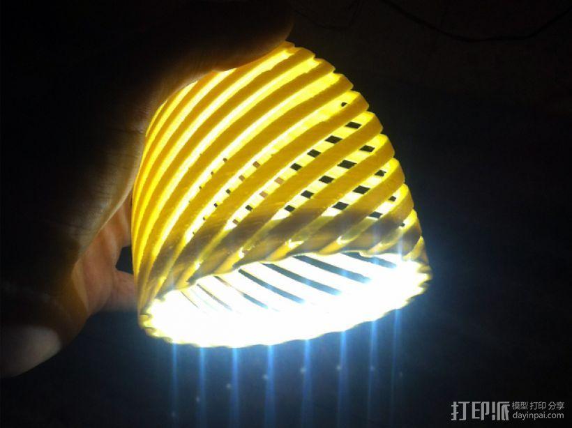 经典螺旋灯罩2 3D打印模型渲染图