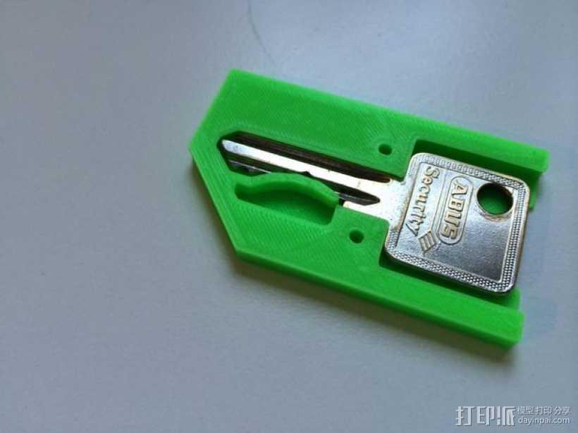 迷你万能钥匙盒 3D打印模型渲染图