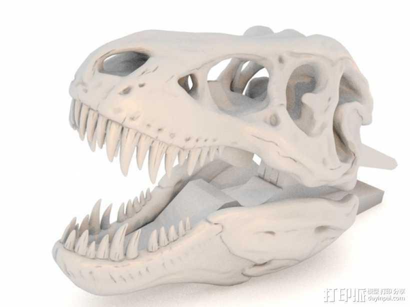 恐龙形衣夹 3D打印模型渲染图