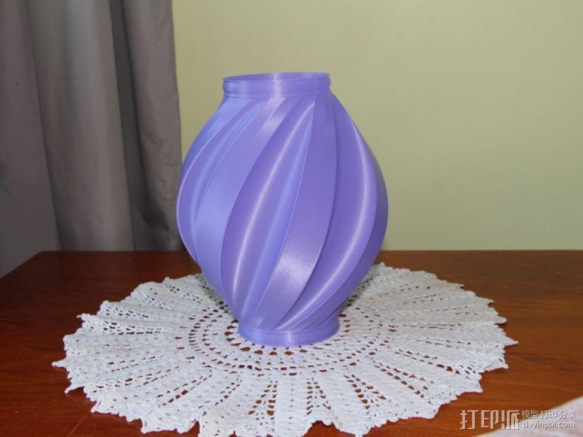 螺旋式花瓶 3D打印模型渲染图