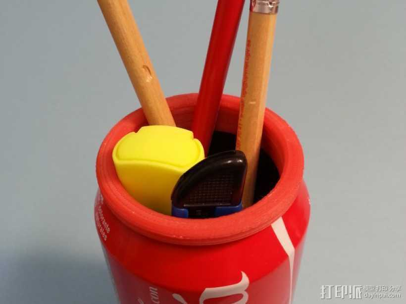 易拉罐形笔筒 3D打印模型渲染图