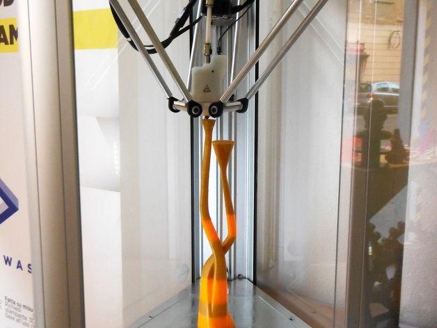 曲线形烛台 3D打印模型渲染图