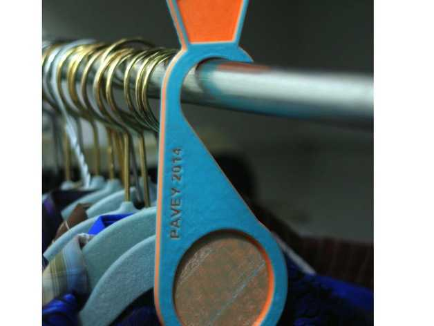 衣柜服装分隔板 3D打印模型渲染图