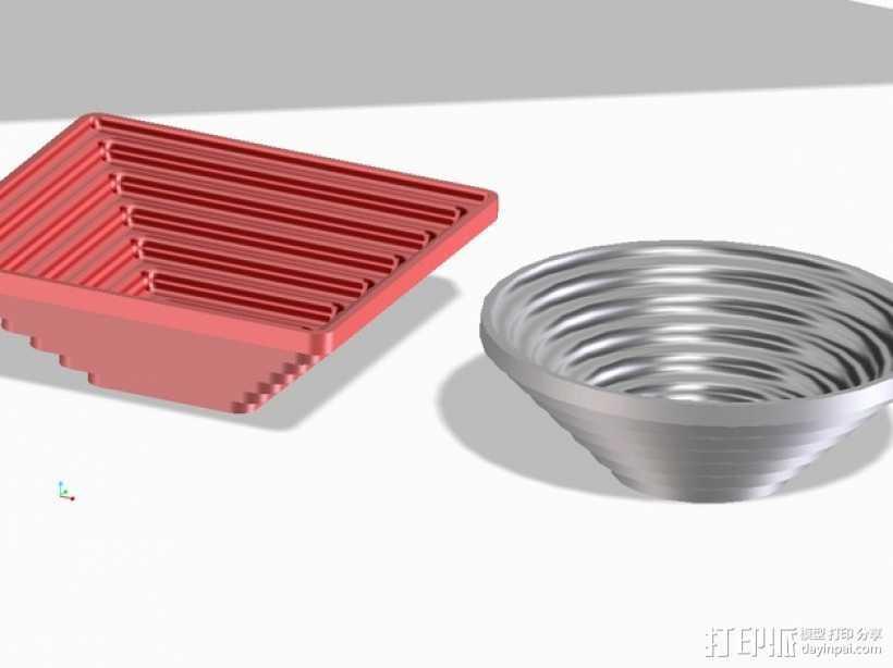 矩形碗/圆形碗 3D打印模型渲染图