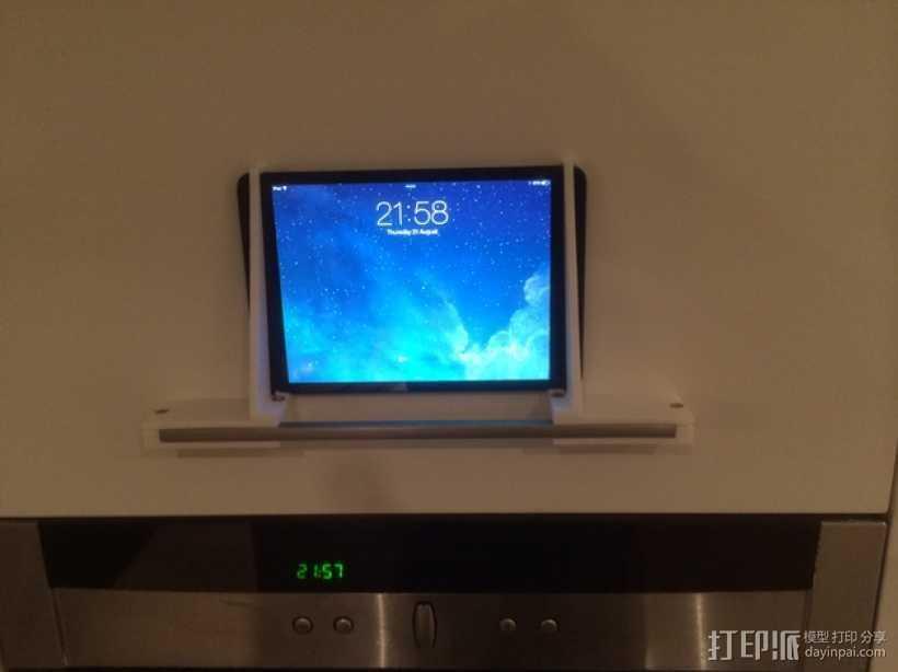 壁挂式iPad架 3D打印模型渲染图