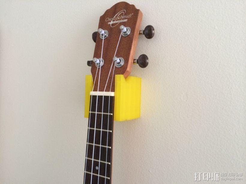 壁挂式四弦琴固定夹 3D打印模型渲染图