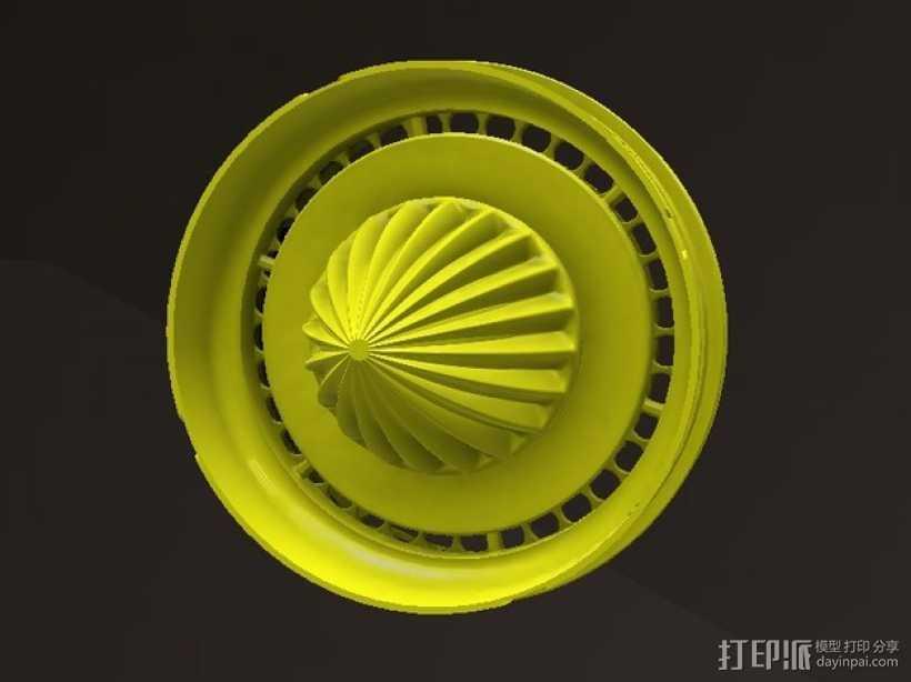 橘子/柠檬榨汁机 3D打印模型渲染图
