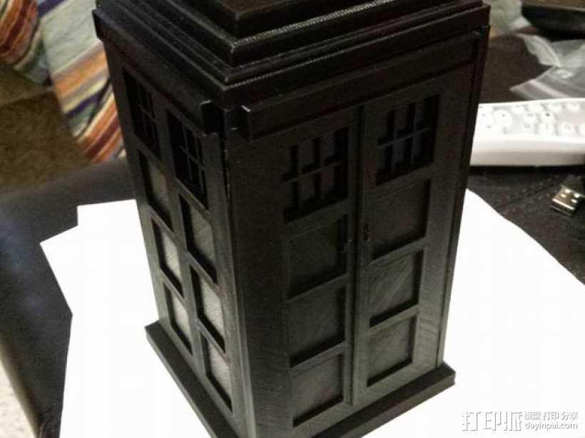 组合式塔迪斯笔筒 3D打印模型渲染图