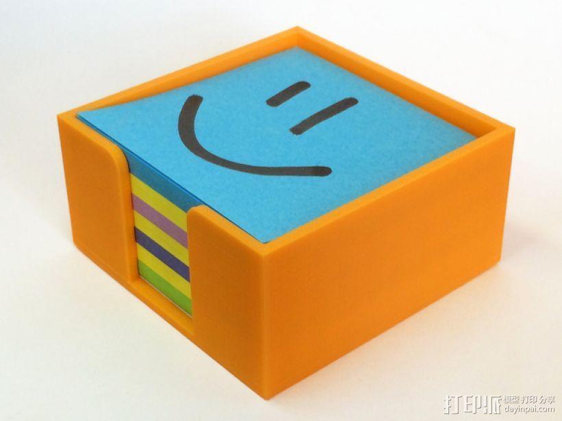 方形便利贴盒 3D打印模型渲染图