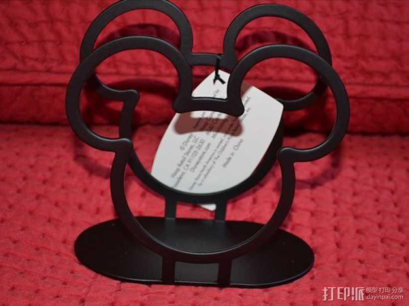 米老鼠餐巾纸架 3D打印模型渲染图