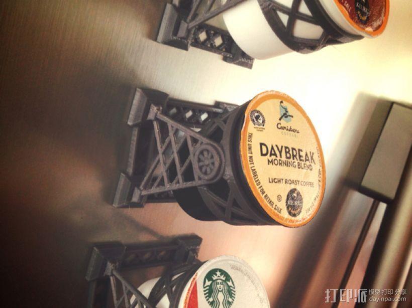 磁力雀巢咖啡胶囊(K-Cup)支架 3D打印模型渲染图