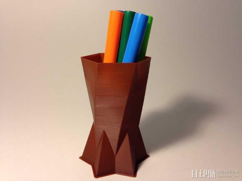定制化双锥形花瓶 3D打印模型渲染图