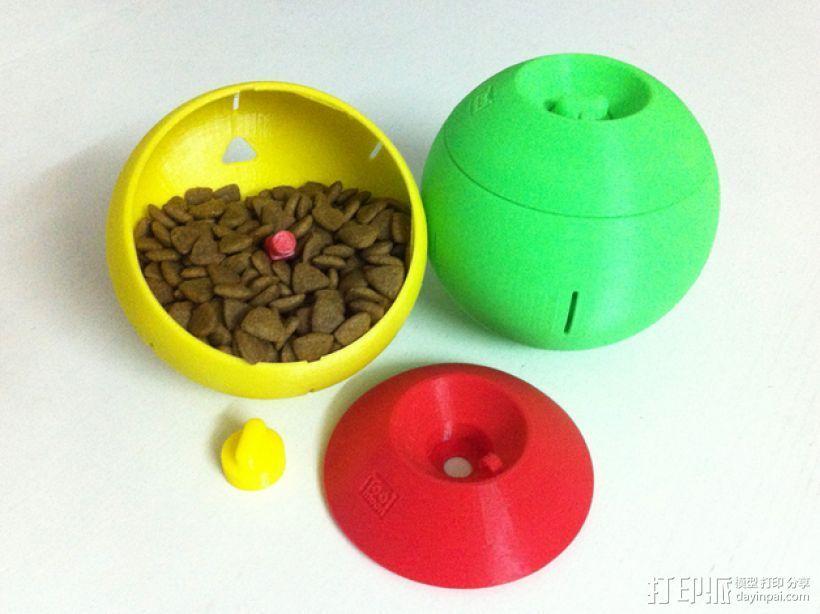 球形宠物饲料盆 3D打印模型渲染图
