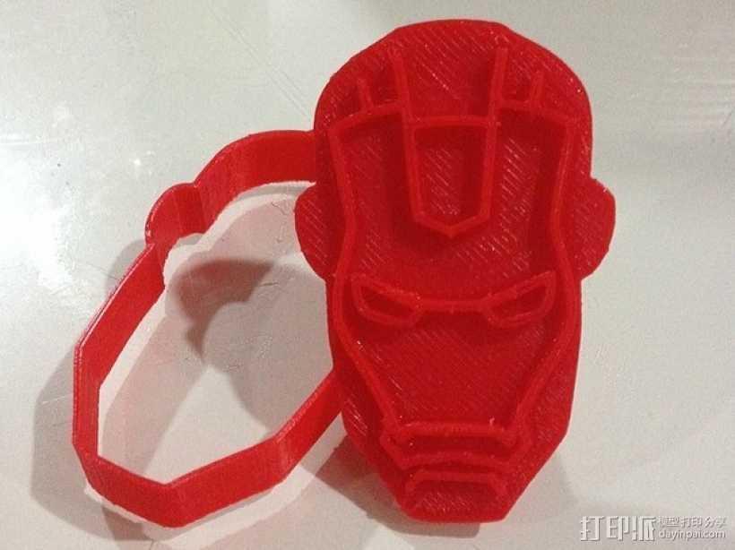钢铁侠饼干模具切割刀 3D打印模型渲染图