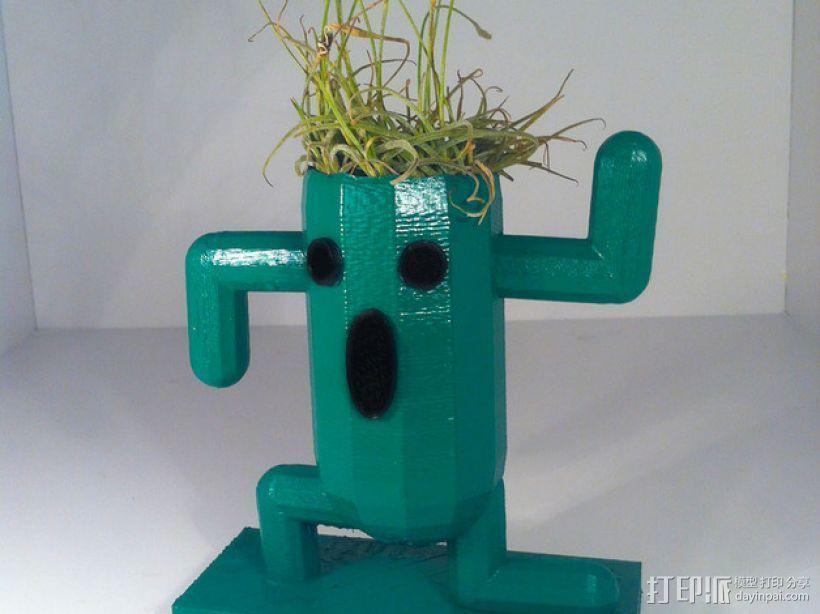 仙人掌形花盆 3D打印模型渲染图
