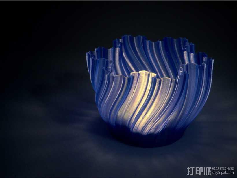 Koch茶蜡架子 3D打印模型渲染图