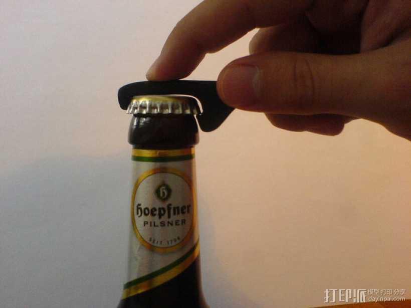 迷你开瓶器 3D打印模型渲染图