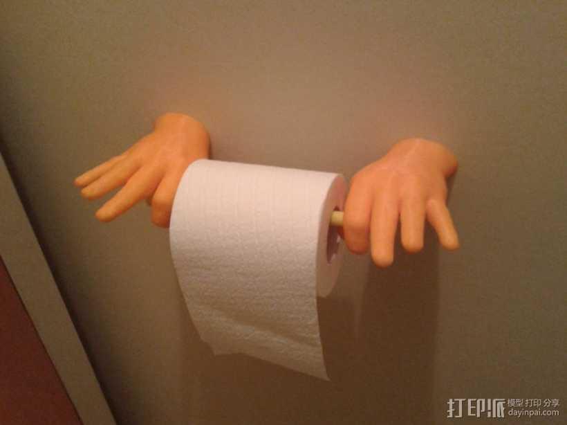 """""""OK手势""""厕纸架 3D打印模型渲染图"""