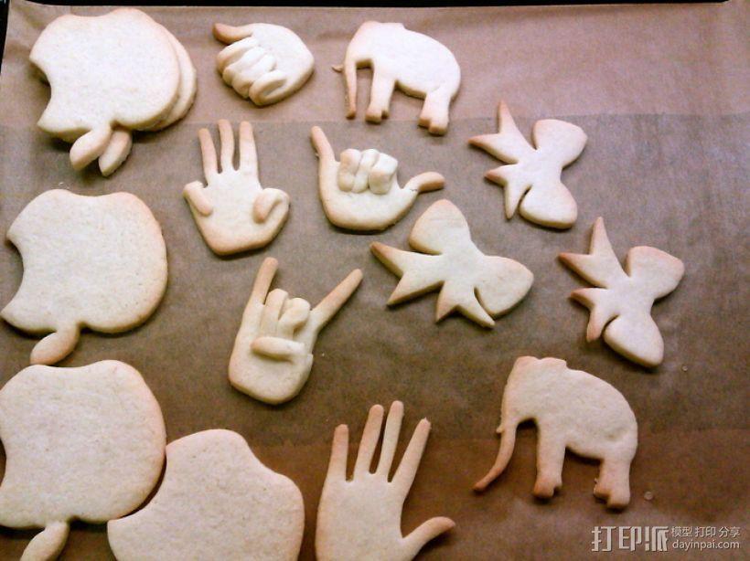 创造性的饼干模具切割刀 3D打印模型渲染图