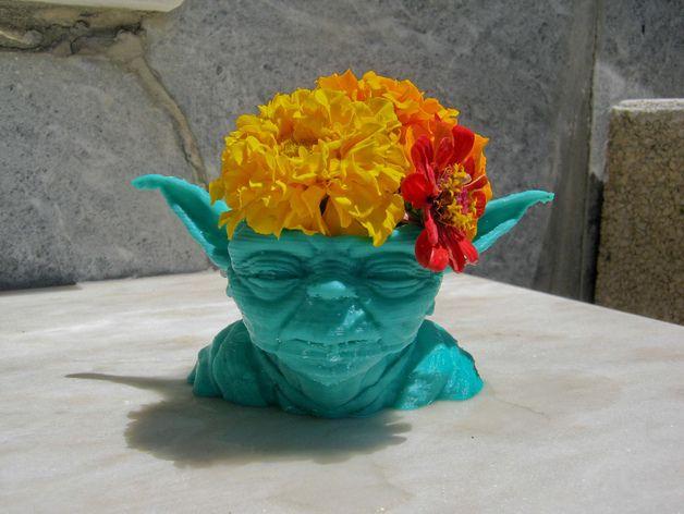 尤达大师花瓶 3D打印模型渲染图