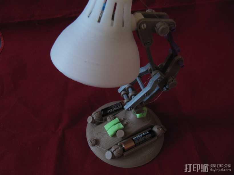 台灯/LED灯 3D打印模型渲染图