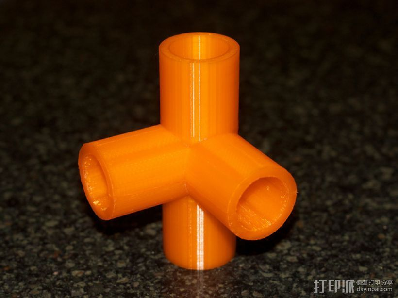 出口管耦合器 3D打印模型渲染图