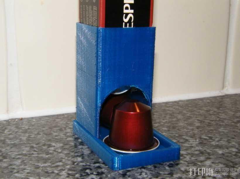 参数化雀巢胶囊咖啡分发器 3D打印模型渲染图