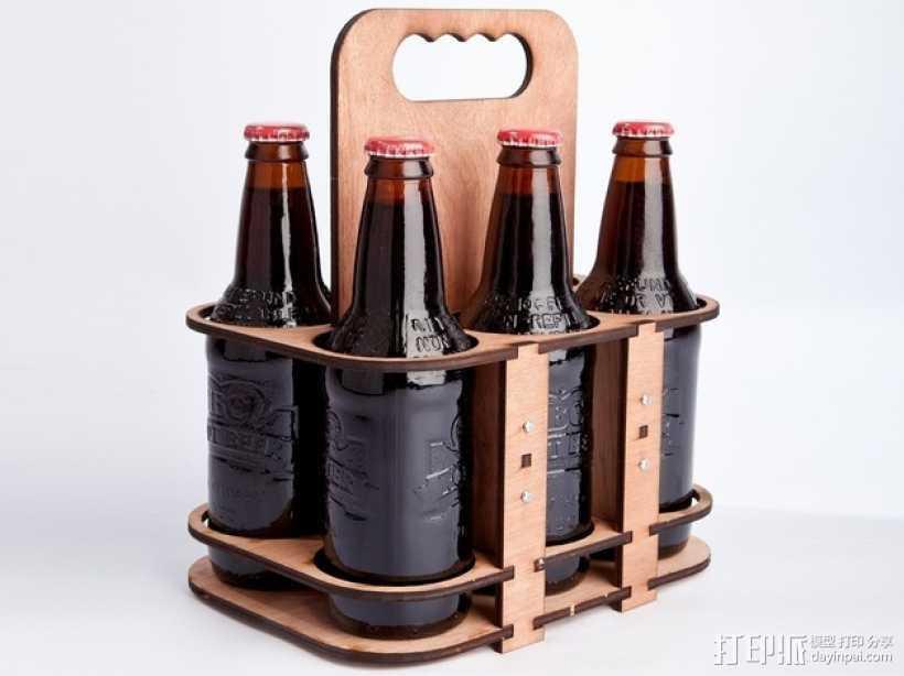 玻璃瓶装饮料打包机 3D打印模型渲染图