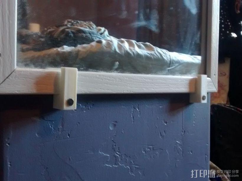 家用简易镜子架 3D打印模型渲染图