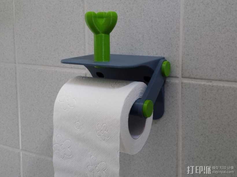 厕纸架 3D打印模型渲染图