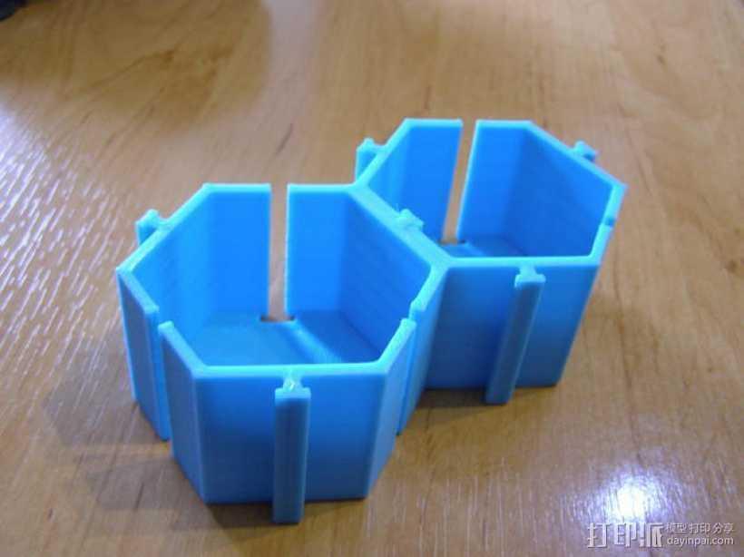 模块化的桌面整理系统V2 3D打印模型渲染图