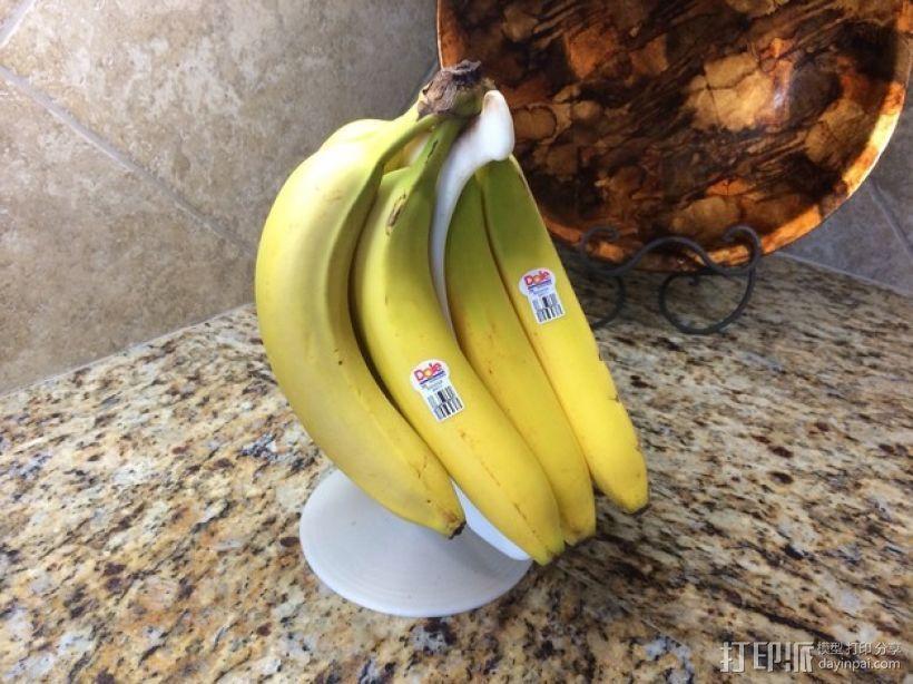 旋转香蕉架 3D打印模型渲染图