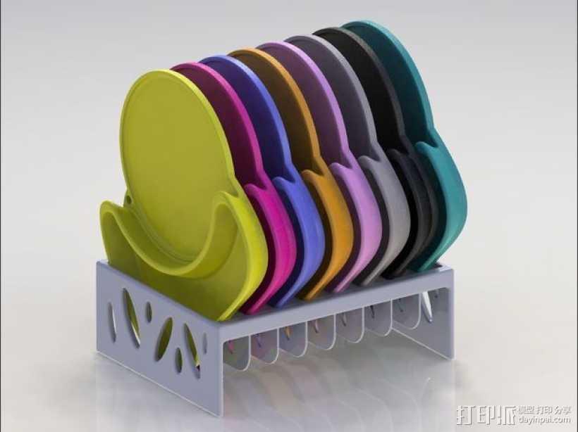 多功能杯托 3D打印模型渲染图