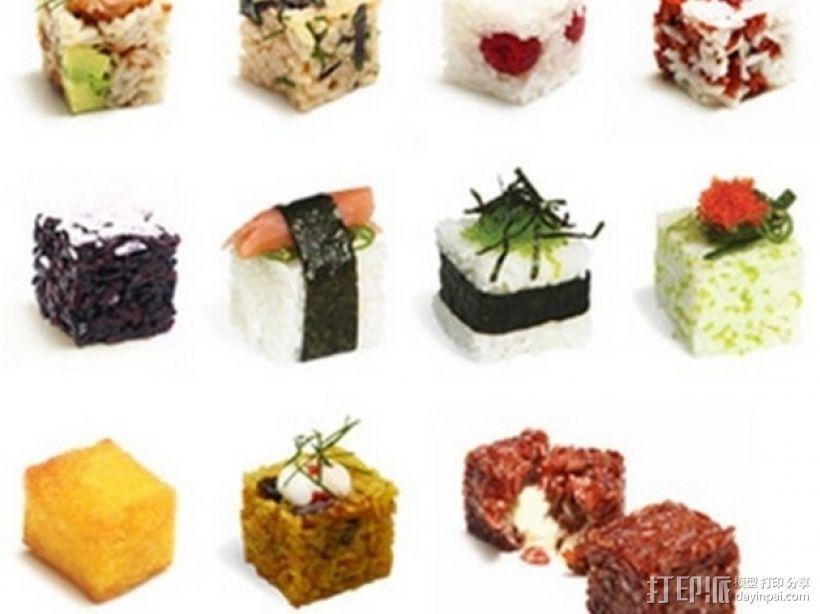 个性化寿司 3D打印模型渲染图