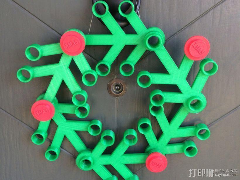 乐高圣诞花环 3D打印模型渲染图