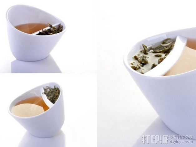 带有角度的茶壶 3D打印模型渲染图