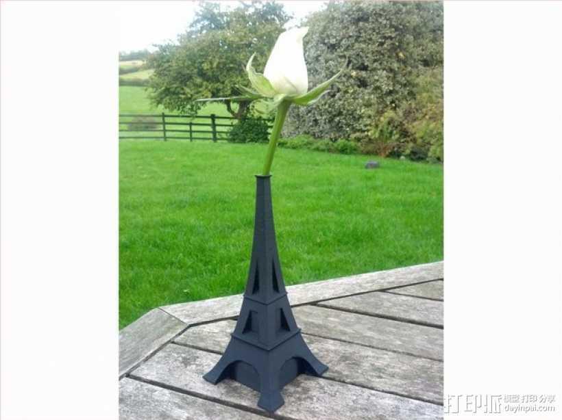 艾菲尔铁塔花瓶 3D打印模型渲染图