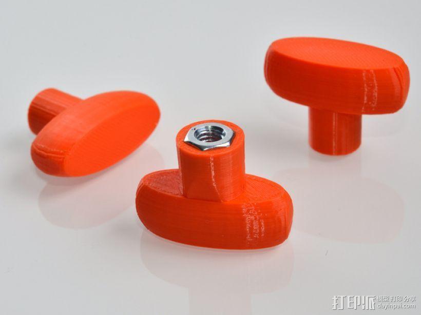 M6蝶形螺母 3D打印模型渲染图