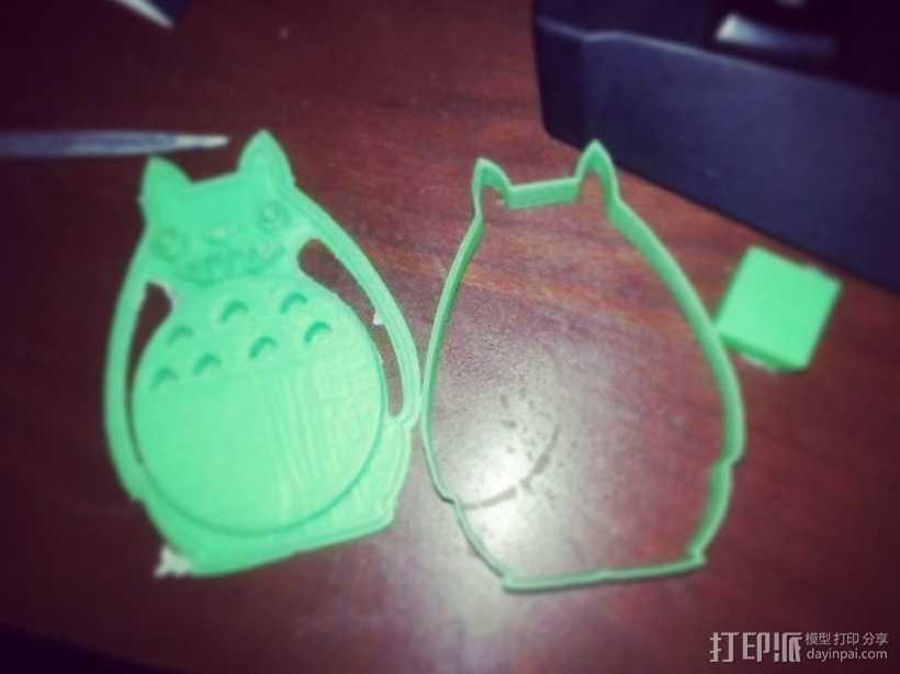 龙猫饼干模具切割刀 3D打印模型渲染图