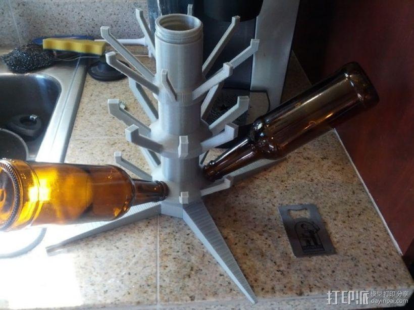 玻璃瓶晾干架 3D打印模型渲染图