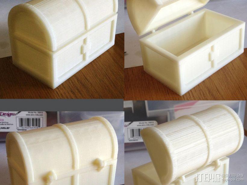 迷你铰链式藏宝箱 3D打印模型渲染图