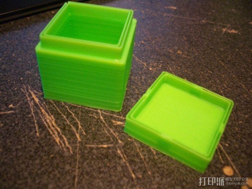 迷你方形小盒 3D打印模型渲染图