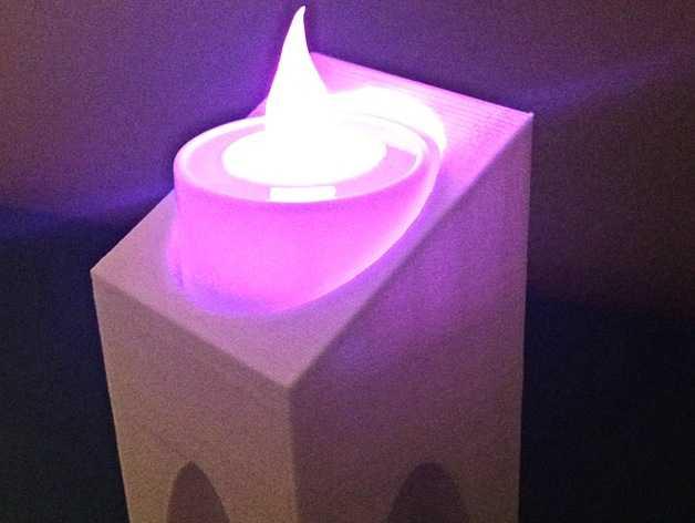现代风格的茶蜡架 3D打印模型渲染图