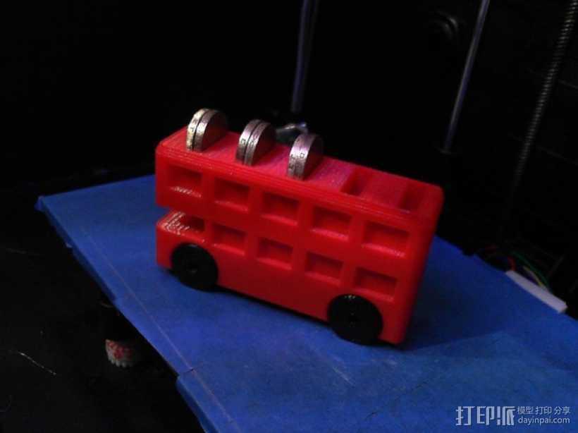 巴士形硬币盒 3D打印模型渲染图