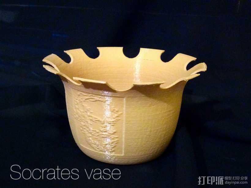 """""""苏格拉底""""花瓶 3D打印模型渲染图"""