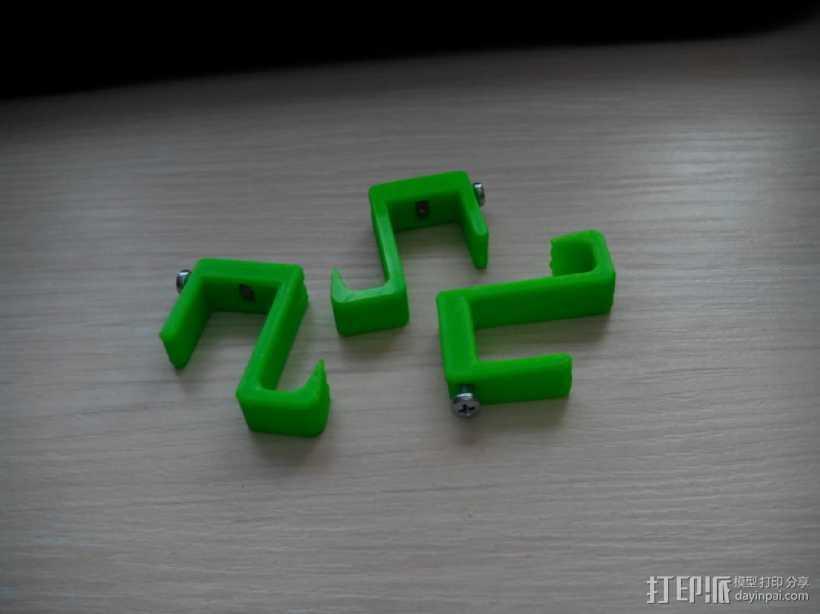 可扩展的电线挂钩 3D打印模型渲染图