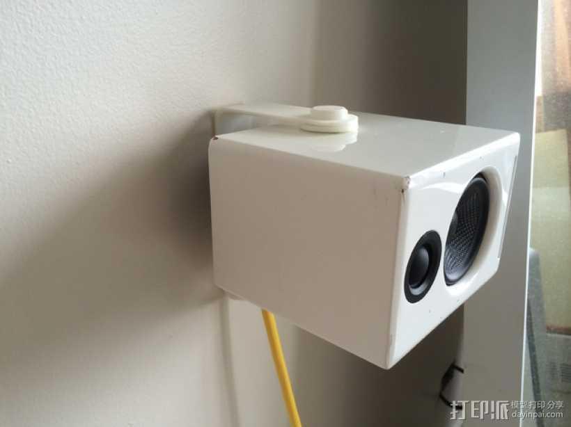 壁挂式扬声器固定架 3D打印模型渲染图