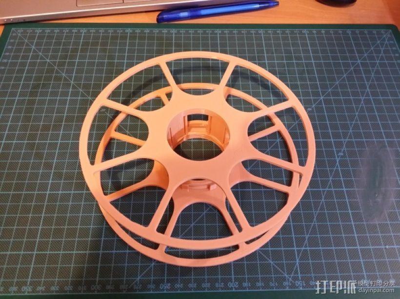 个性化线缆转轴 3D打印模型渲染图