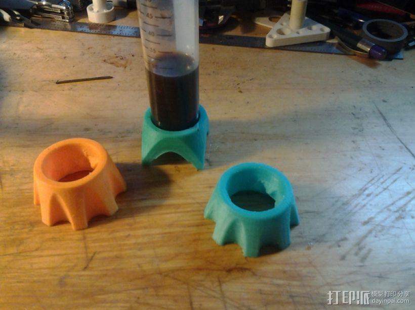 圆底试管站架 3D打印模型渲染图